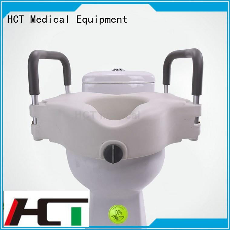 HCT Medical Brand handrails seat raised toilet seat with armrest toilet supplier