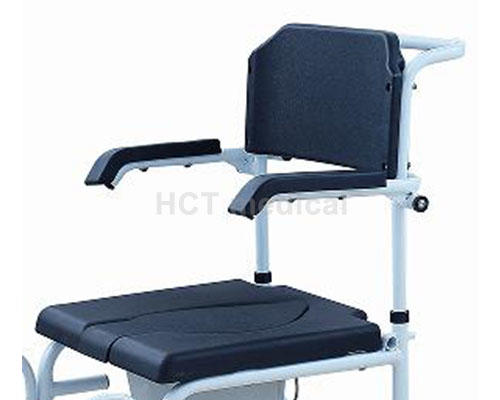 HCT Medical Brand wheeled commode toilet chair footrests factory