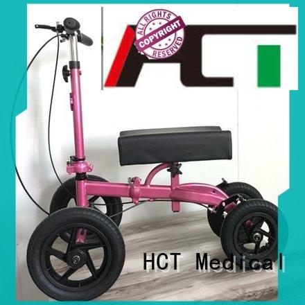 knee scooter for sale 12 inch rubber wheels for rehabilitation centre HCT Medical