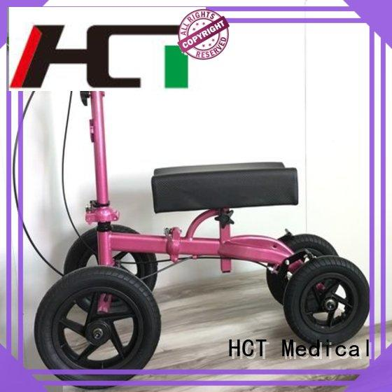 HCT Medical steel best knee scooter manufacturing for knee injured person